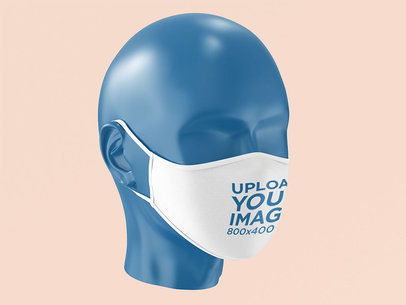 Mockup of a Face Mask on a Mannequin Head 4284-el1