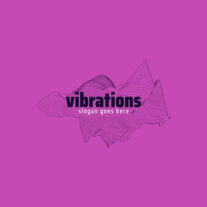 Music Logo Template Featuring Sound Vibrations Clipart 1726c-el1