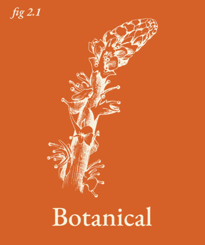 T-Shirt Design Template for Botanic Buffs 1657-el1