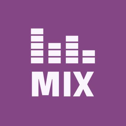 Music Logo Creator Featuring Sound Bars 1725c-el1