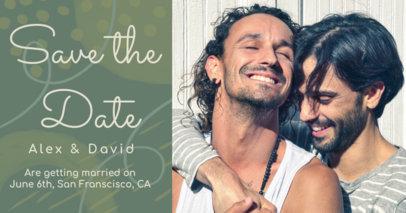 Facebook Post Template Featuring an LGBT Wedding Announcement 2584a