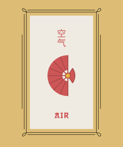 Chinese T-Shirt Design Generator Featuring a Hand Fan Graphic 1687b-el1