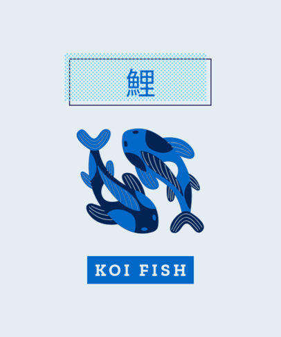 T-Shirt Design Generator Featuring Two Koi Fishes 1683b-el1
