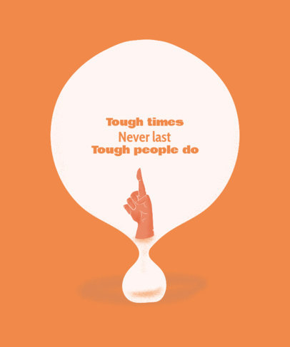 T-Shirt Design Generator Featuring a Quote in a Balloon-Like Graphic 2579c