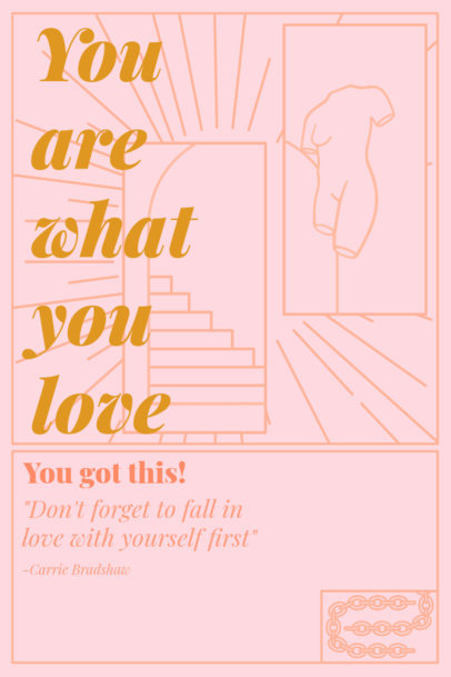 Illustrated Poster Creator with a Powerful Message of Love 2575c