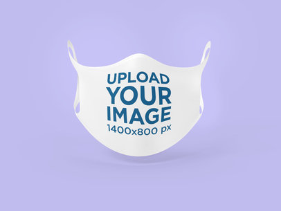 Ghosted Mockup of a Face Mask Against a Plain Color Backdrop 4281-el1