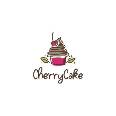 Bakery Logo Generator Featuring a Cherry Cupcake Graphic 1860c-el1