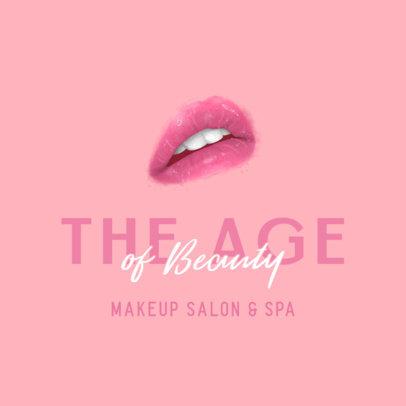 Beauty Salon Logo Generator Featuring Glossy Lips 3318f