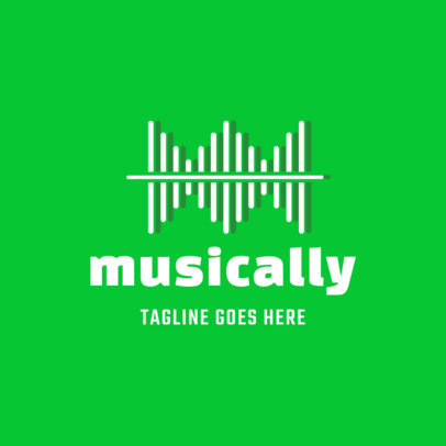 Music Logo Creator for a Musical App Featuring a Beat Wave Graphic 1724e-el1