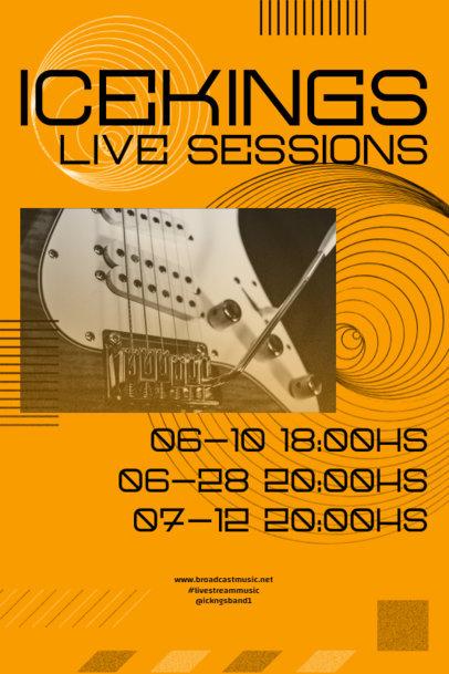 Poster Design Maker for a Rock Band Tour Dates Announcement 2574d