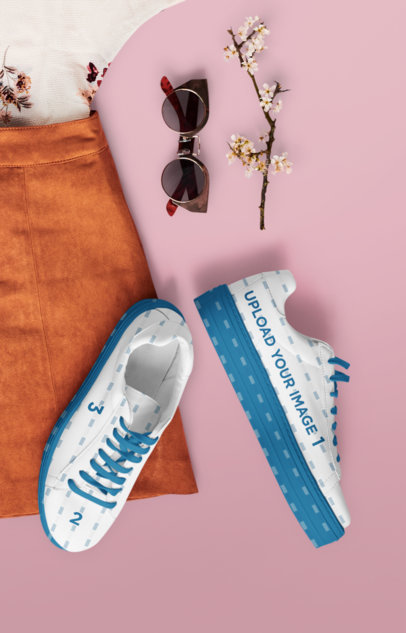 Sneakers Mockup Featuring Some Casual Accessories 36476-r-el2