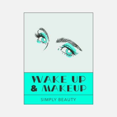 Makeup Brand Logo Creator with Female Eyes Clipart 3317c