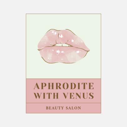 Beauty Salon Logo Maker Featuring Provocative Lips Clipart 3317d