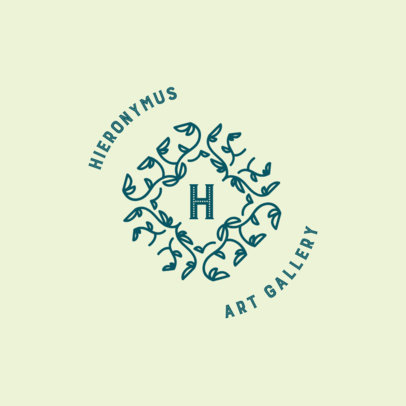 Monogram Logo Creator for an Art Gallery 3316g