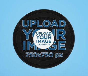 Mockup Featuring a Customizable Vinyl Record Against a Plain Background 36979-r-el2