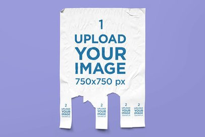 Minimalist Mockup of a Tear-Off Ad Flyer 4545-el1