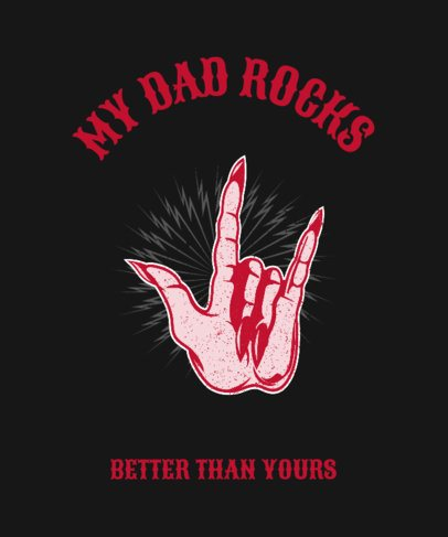 Rock and Roll Father's Day T-Shirt Design Template 444g-2614