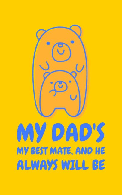 Cool T-Shirt Design Maker for Father's Day Featuring Two Cute Bears 1152s-2614