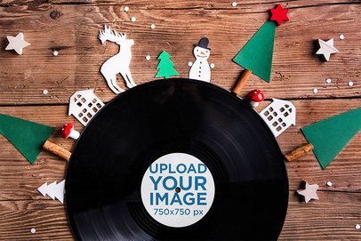 Vinyl Mockup Featuring Christmas Decorations 36927-r-el2