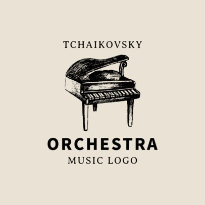 Logo Template Featuring Different Musical Instrument Graphics 1771-el1