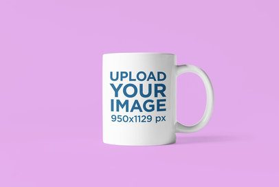 Minimal Mockup Featuring a Customizable 11 oz Coffee Mug 4488-el1