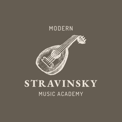 Music Academy Logo Maker Featuring a Banjo Graphic 1771c-el1