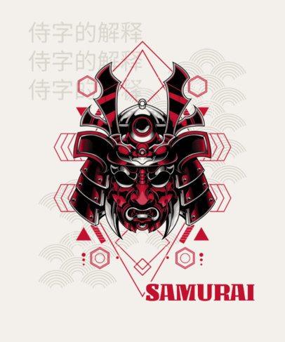 T-Shirt Design Creator with a Samurai Mask Graphic 1827b-el1