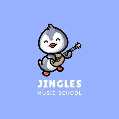 Toddler's Music School Logo Creator with a Smiling Bird 1773b-el1