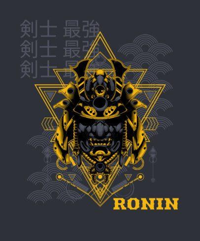 T-Shirt Design Maker Featuring a Ronin Mask Graphic 1827e-el1