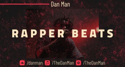 Twitch Banner Creator for a Rapper Featuring a Dark Background 2598b