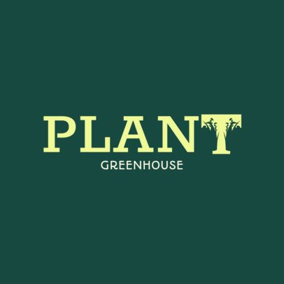Logo Template for a Greenhouse with a Cool Typography 3340l