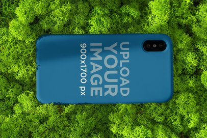 Mockup of a Phone Case Placed on Some Grass 4618-el1