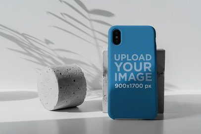 Mockup of a Phone Case Placed in a Minimal Setting 4621-el1