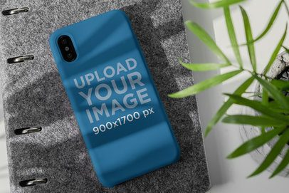 Phone Case Mockup Featuring a Little Plant 4625-el1