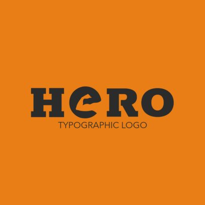 Typographic Logo Maker Featuring a Strong Arm in a Letter 3340a