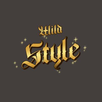 Logo Creator Featuring Metallic Typography 3366
