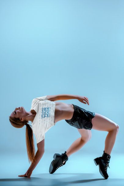 Crop Top Mockup of a Woman Breakdancing 37557-r-el2