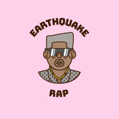 Rapper Avatar Logo Generator with a Square Haired Character 3334h