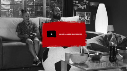 YouTube End Card Video Maker with a Grunge Style 911-el1