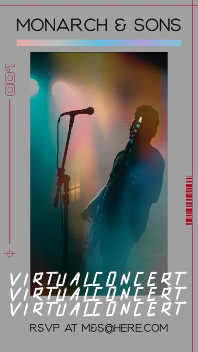 Instagram Story Generator for a Virtual Concert Featuring a Vintage Film Effect 2646e