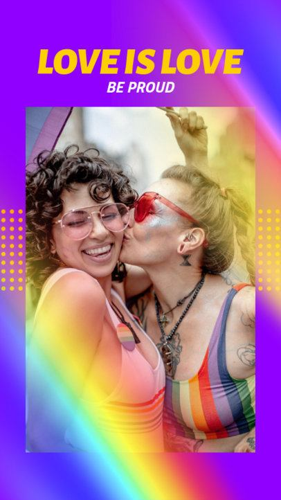 Instagram Story Generator with Rainbow Graphics for LGBTQ Month 2641d