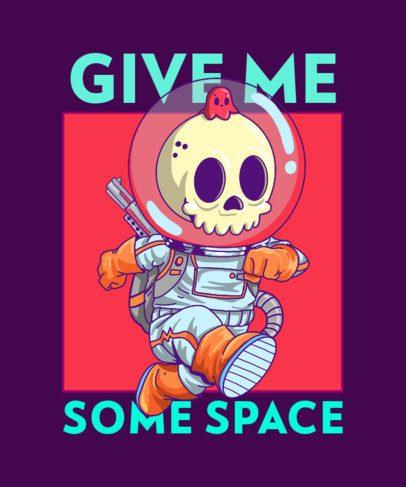 T-Shirt Design Generator Featuring an Astronaut Skeleton Cartoon 2649c