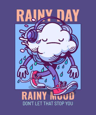 T-Shirt Design Creator with a Melancholic Cloud Cartoon Character 2649f