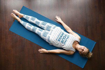Tank Top and Leggings Mockup of a Woman Doing Yoga 38266-r-el2