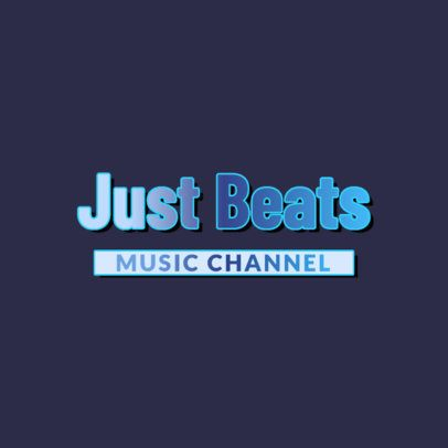Logo Creator for a Music Channel Featuring Gradient Monochromatic Text 3367d