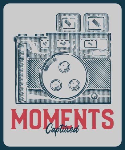 T-Shirt Design Maker Featuring Analog Cameras 2637