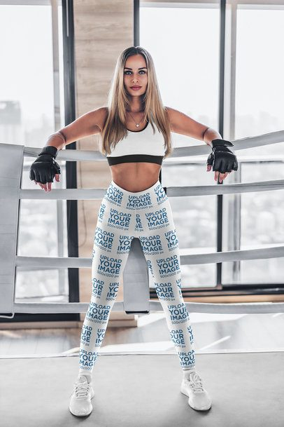 Leggings Mockup Featuring a Woman in a Boxing Ring 4755-el1