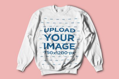 Crewneck Sweatshirt Mockup Featuring a Solid Color Background 4750-el1