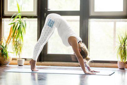 Leggings Mockup of a Female Yogi Practicing at Home 37271-r-el2