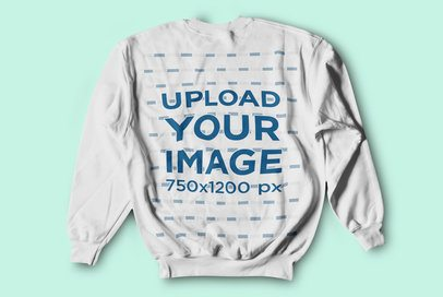 Back-View Mockup of a Crewneck Sweatshirt Placed on a Solid Color Surface 4751-el1